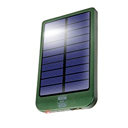 Portable Solar USB Charger Battery Pack with 2600 mAh Power Bank , 1.5A USB Output Charging Port & Compact Design by ReVIVE- Works with Apple , Samsung , HTC & More Smartphones & Rechargeable Devices!
