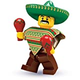 LEGO Collectable Minifigures: Mexican Mariachi Maraca Man Minifigure (Series 2) (Bagged)