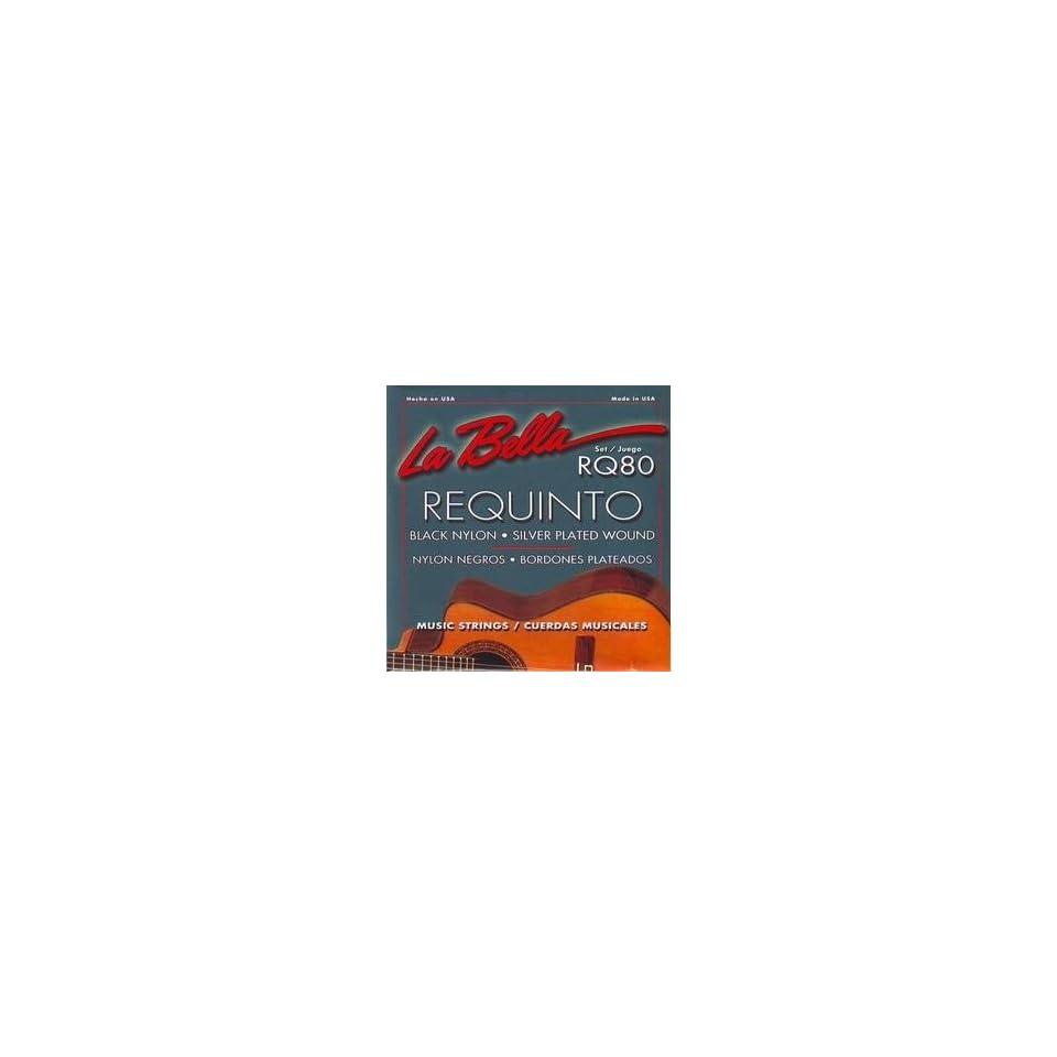 LaBella Requinto Strings Set Black Nylon Silver plated Wound RQ80