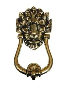 en laiton massif style ancien en anglais heurtoir t te de lion num ro 10 anneau. Black Bedroom Furniture Sets. Home Design Ideas