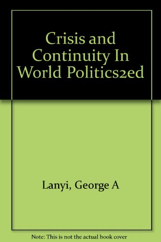 Image for Crisis and Continuity In World Politics2ed