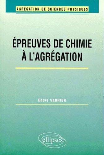 Agrégation Sciences Physiques Option Chimie Concours Externe 2001