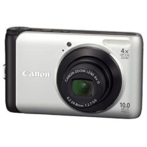 Canon PowerShot A3000IS 10MP Digital Camera + Case + Tripod + 4GB SD Card $89
