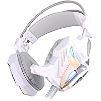 HIGHOT EACH G3100 Stereo Pro Gaming Headset Bass USB Headphone With Microphone LED Light Built-in Vibration Function... - B00V37PYJQ