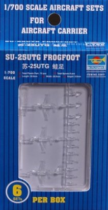 Trumpeter 1/700 SU25UTG Frogfoot Aircraft Set for Russian Carriers (18-Box) - 1