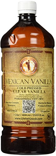 Clear Mexican Vanilla Cold Pressed 1 Liter / 33.8 Oz (Global Goods compare prices)