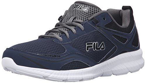 Fila Men's Speedway Running Shoe, Fila Navy/Black/Castlerock, 10 M US