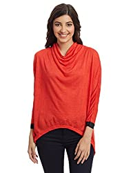 And Women's Body Blouse Top (AW16N105KTJKS11_Tangerine_X-Small)