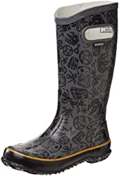 Bogs Pirate Rain Boot (Toddler/Little Kid/Big Kid), Grey,4 M US Big Kid