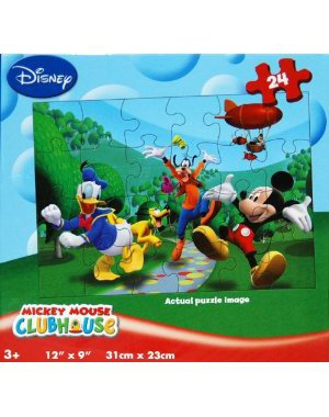 Disney Mickey Mouse Clubhouse 24-Piece Lenticular 3D Jigsaw Puzzle - Mickey, Donald, Pluto... - 1