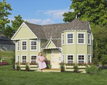 Sarah's Victorian Mansion 8' x 16' Wood Playhouse Kit