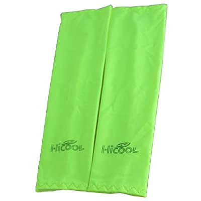 Ezyoutdoor 10 pair Cooling Arm Sleeves Cover UV Sun Block Protection for Camping Bivouac Hiking Exercise Sports Golf Riding Bike Outdoor Sports 1 Pair (green)