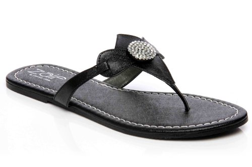 Cheap Unze Women Bow With Sequins Accented Thong Summer, Casual, Day, Beach Party Slipper – Ai010 (B008BYYULM)