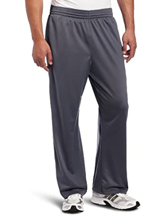 adidas Men's 3-Stripe Pant, Lead/Black, Medium