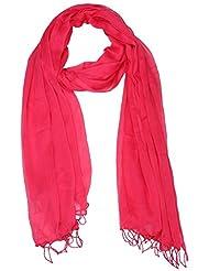 Famacart Women's Ethnicwear Chiffon Plain Pink Dupatta