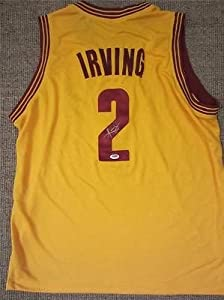 KYRIE IRVING SIGNED JERSEY CLEVELAND CAVALIERS PSA DNA CAVS YELLOW by KLF Sports