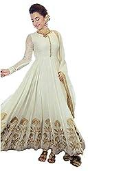 Cenizas Beige Colour Semi-Stiched Salwar suits