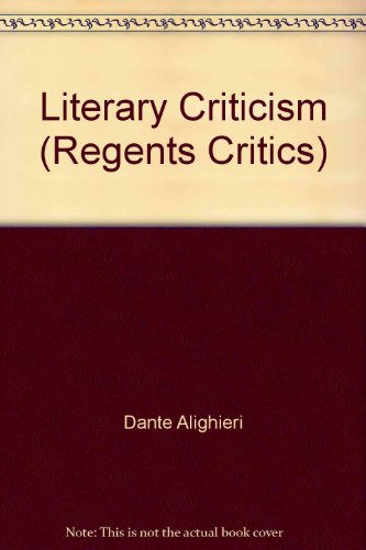 "a literary review of dantes alighieris It is established as one of the central texts within western literature and is  dante alighieri,  the catholic encyclopedia, ""dante alighieri"" dante's."