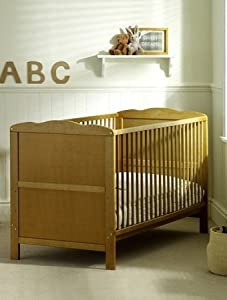 Saplings Kirsty Cot Bed in Antique Country Pine inc. Deluxe Spring Mattress       BabyCustomer reviews and more information