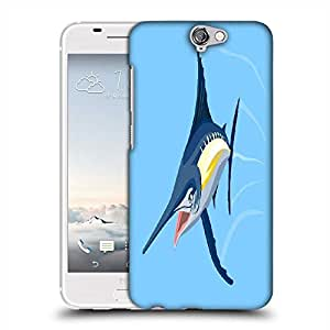 Snoogg blue marlin fish jumping retro Designer Protective Back Case Cover For Asus Zenfone 6
