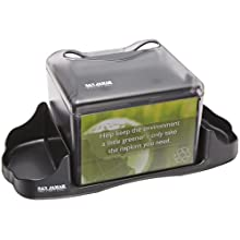 "San Jamar H4005 Venue Table Top Fullfold Control Napkin Dispenser with Caddy, 200 Capacity, 14-1/4"" Width x 6-1/8"" Height x 6-1/8"" Depth, Black Pearl"
