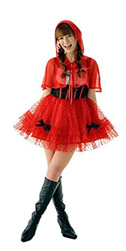 [NEW! HOT Christmas Little Red Riding Hood Fancy Dress Ladies Multi-Style Costumes + Cape (Freesize, Red] (Wolf Costume Halloween Express)