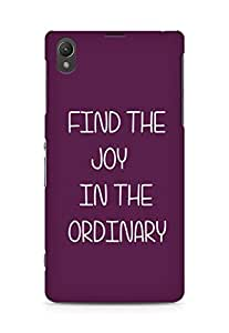 AMEZ find the joy in the ordinary Back Cover For Sony Xperia Z1 C6902
