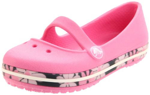 Crocs - Ballerine 11307_Renoncule/rose limonade Bambina, Rosa (Pink Lemonade/navy), 9 UK Toddler