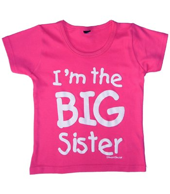 I'm the Big Sister' Fuchsia t-shirt in 2-3 years