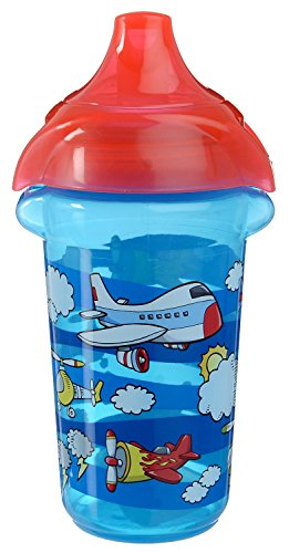 Munchkin Click Lock Deco Sippy Cup - 9Oz (Blue/Planes) front-999945