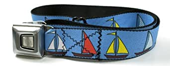 Buckle-Down Starburst Sailboats Seatbelt Belt