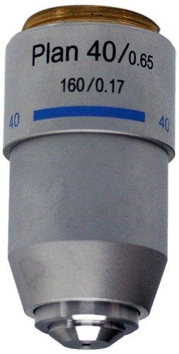 National Optical 740-160P 40Xr Din Plan Achromat Objective Lens, N.A. 0.65, For 160 Microscopes
