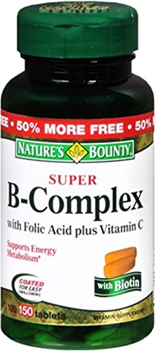 Natures-Bounty-Super-B-complex-with-Folic-Acid-Plus-Vitamin-C-150-Count