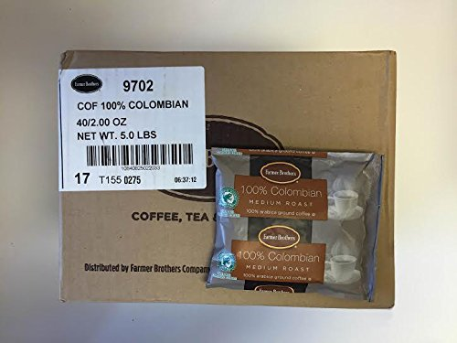Famer Brothers 100% Colombian Ground Coffee (40 bags/2 oz) (Farmer Brothers Coffee Makers compare prices)