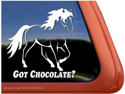 Got Chocolate? ~ Rocky Mountain Horse Trailer Vinyl Window Decal Sticker front-626269