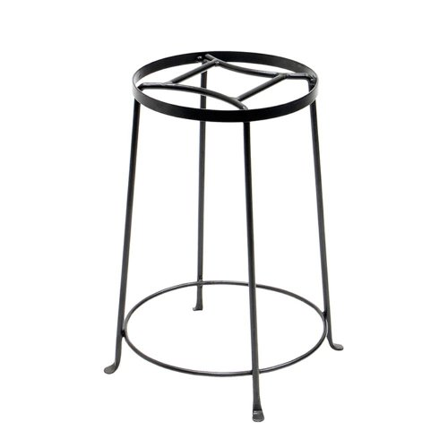 Achla Achla Designs Argyle Indoor/Outdoor Plant Stand, Gray, Wrought Iron, Large (10.5W X 10.5D X 18H In.)