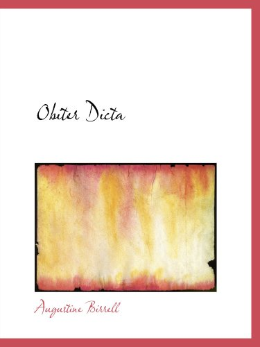 Obiter Dicta: Second Series