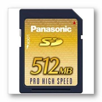 PANASONIC rp-sdk512u1a 512MB Secure Digital SD Memory CardB0006TIIT0 : image