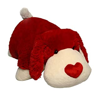 My Pillow Pet Red And White Valentine Dog