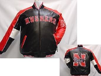 Nebraska Cornhuskers NCAA Adult Pleather Jacket by G-III Sports