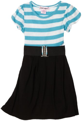Elastic Belted Girls Dress