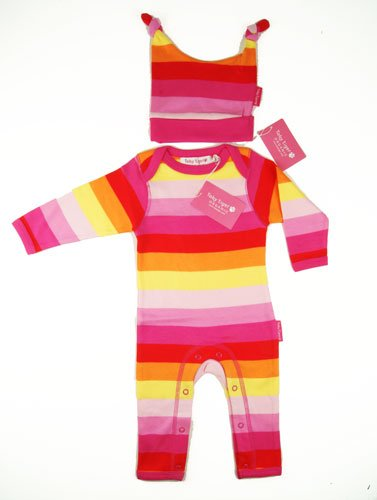 Toby Tiger Pink Multi Stripe Gift Set 0-6 months