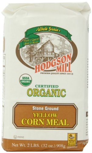 Hodgson Mill Organic Yellow Corn Meal, 2-Pounds (Pack of 6)