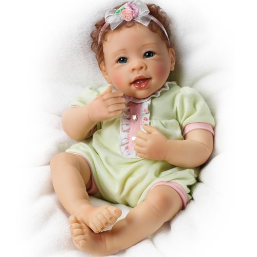 Linda Murray Touch-Activated Lifelike Giggling Baby Girl Doll: Raspberry Kisses by The Ashton-Drake Galleries