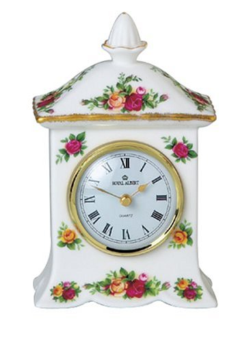 Royal Albert Old Country Roses L/S Carriage Mantle Clock