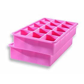 Tovolo 80-5545 Perfect Cube Ice Trays, Pink, Set of 2