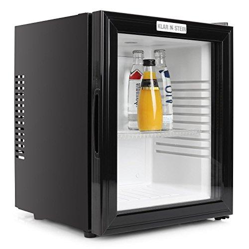 Klarstein-Frigo-de-bar-silencieux-avec-porte-en-verre-Rfrigrateur-Minibar-design-0dB-36-litres-classe-B-Chssis-acier-noir-mat