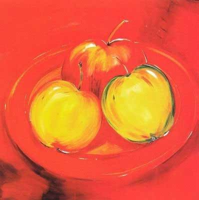 Apple Platter, Art Poster by Alfred Gockel