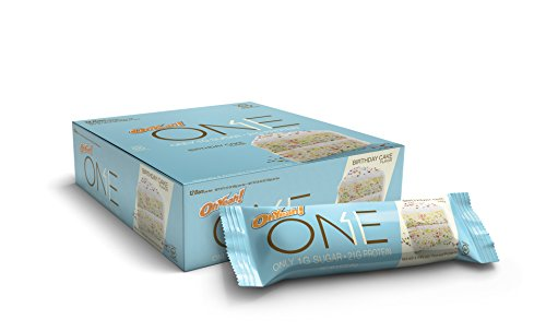 Oh Yeah! One Bar, Birthday Cake, 12 Count (2.12 oz. Per Bar / 25.44 oz. Per Box) (Quest Bar One compare prices)