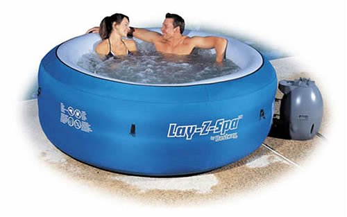 Lay-Z-Spa Portable Hot Tub with digital control.